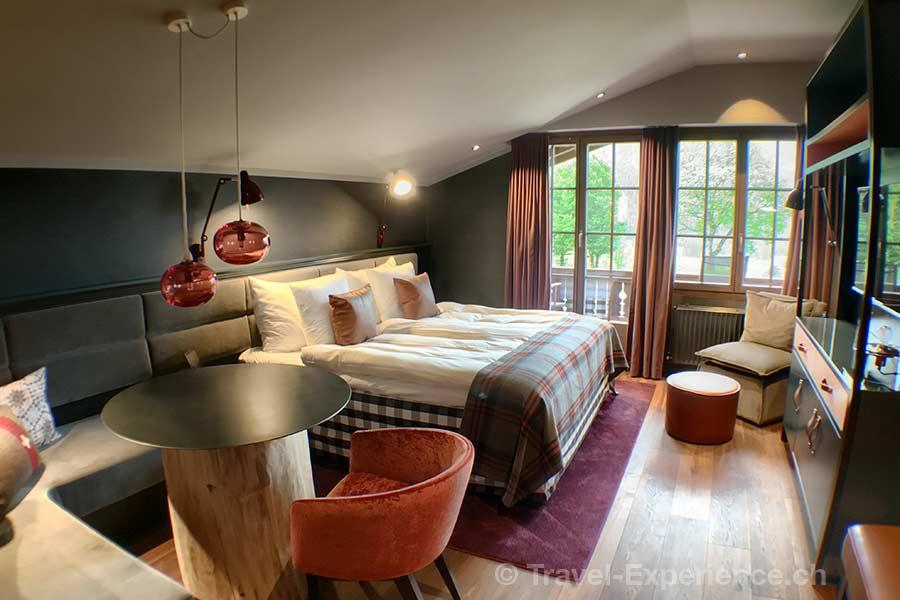 Schweiz, Saanen, Gstaad, Huus Hotel, Zimmer 209