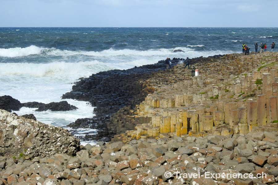 Giants Causeway, Nordirland, Basaltsaeulen