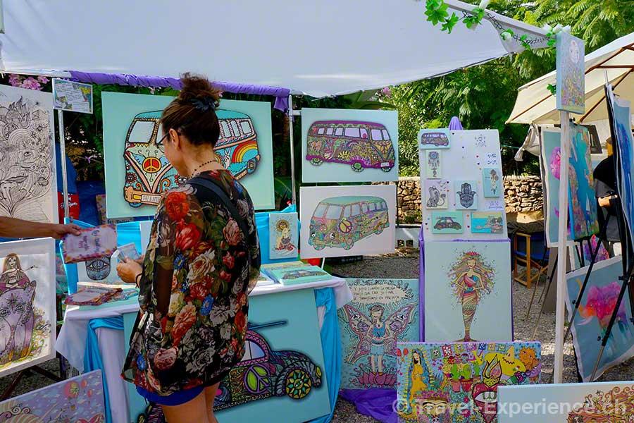 Ibiza, Hippiemarkt, Hippiebus, Las Dalias