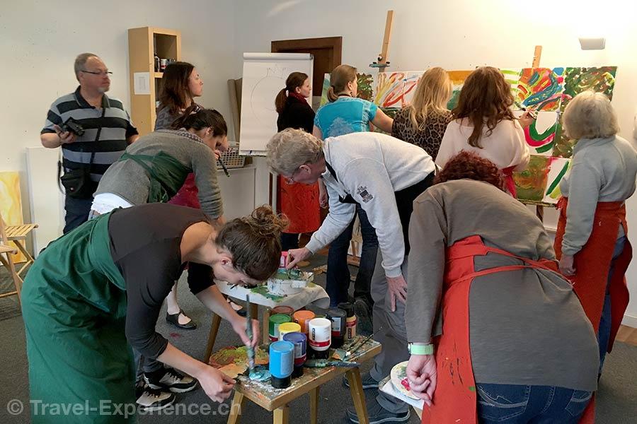 oesterreich, Bad Hofgastein, Impuls Hotel Tirol, Atelier, kreativ, Pinseln, Malen
