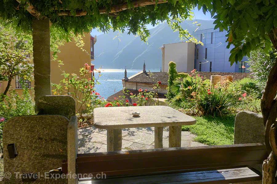 Schweiz, Lugano, Hotel International au Lac, Garten