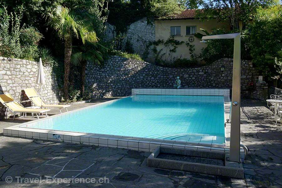 Schweiz, Lugano, Hotel International au Lac, Pool