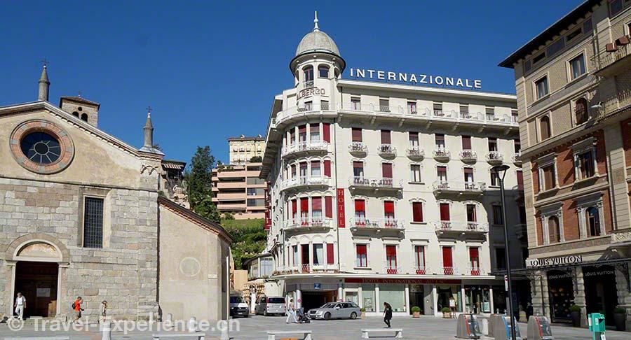 Schweiz, Lugano, Hotel International au Lac