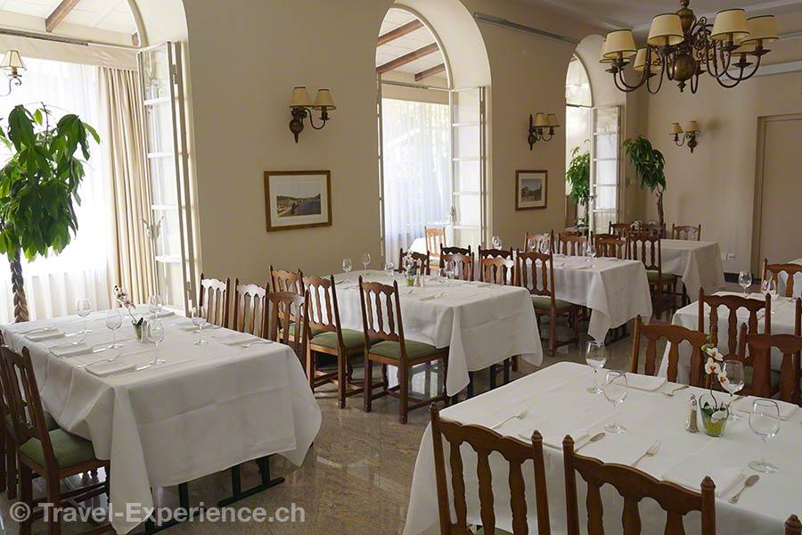 Schweiz, Lugano, Hotel International au Lac, Esszimmer