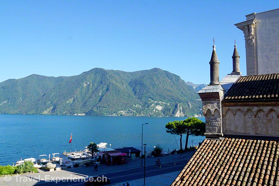 Schweiz, Lugano, Hotel International au Lac, Aussicht