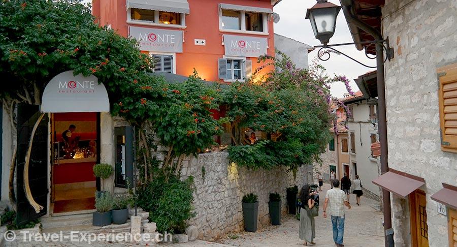 Kroatien, Istrien, Rovinj, Restaurant Monte