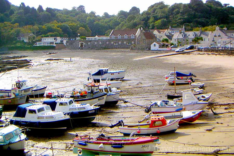 Jersey, Kanalinsel, Rozel Bay, Boote