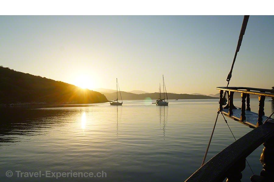 Griechenland, Korfu, Segelschiff, Rahsegler, Brigantine, Merlin,