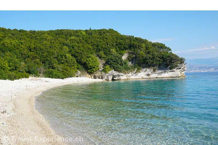 Griechenland, Korfu, Avlaki, glasklares Wasser