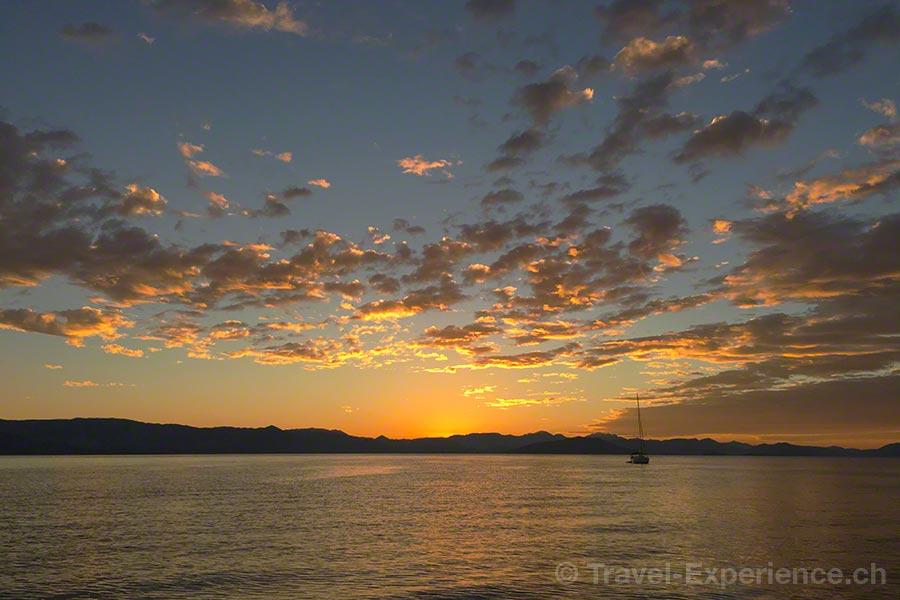 Griechenland, Korfu, Segelschiff, Rahsegler, Brigantine, Merlin, Sonnenaufgang