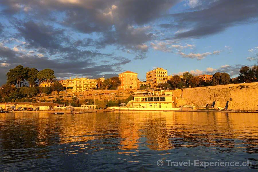 Griechenland, Korfu, Sonnenaufgang, Hafen