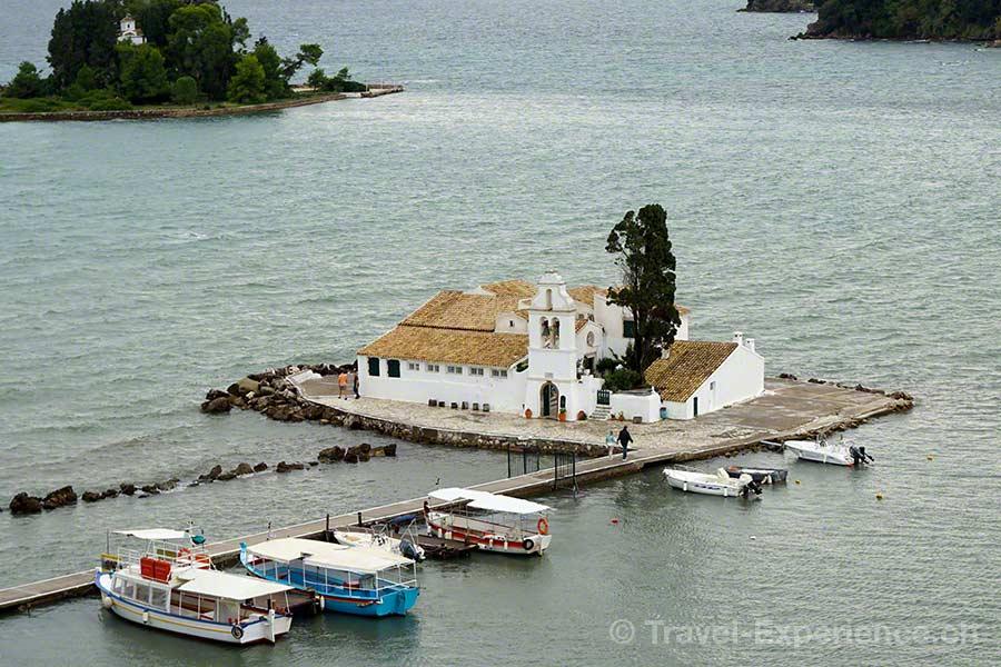 Griechenland, Korfu, Kirche, Vlacherna