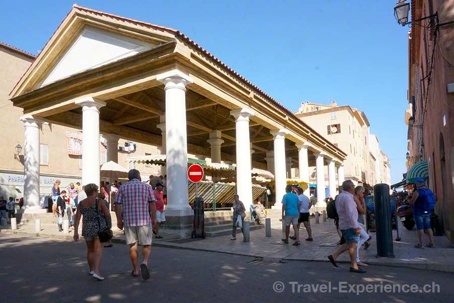 Korsika, Ile Rousse, Markthalle