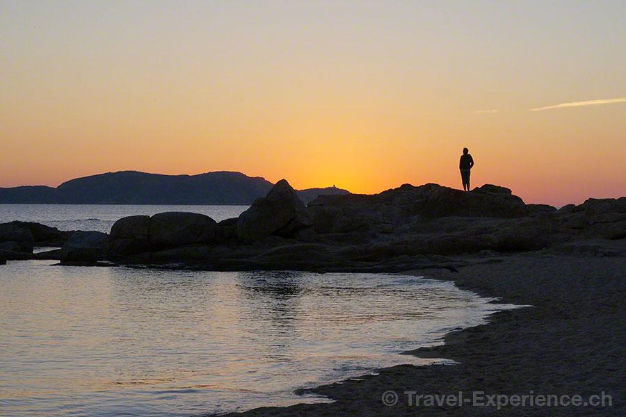 Korsika, Restaurant Matahari, Strand, Sand, Meer, Sonnenuntergang