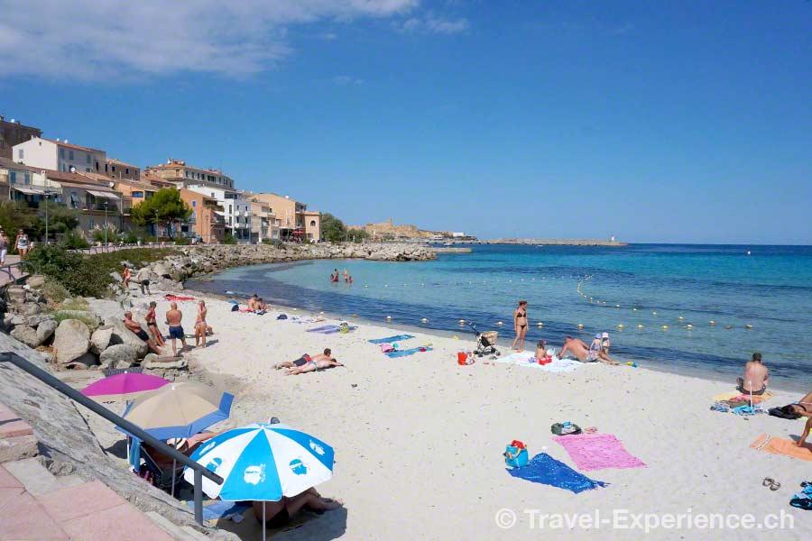 Korsika, Ile Rousse Strand