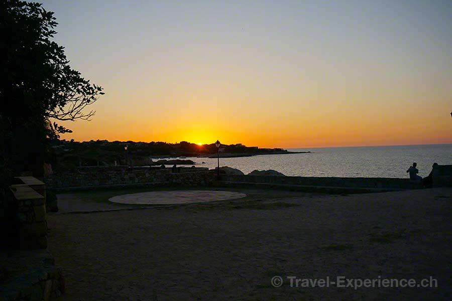 Korsika, Algajola, Sonnenuntergang