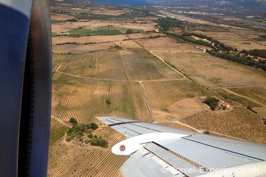 Korsika, Anflug Calvi, Helvetic Airways