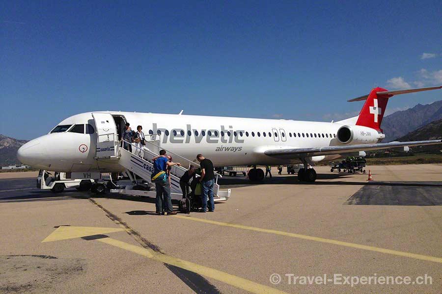 Korsika, Flughafen Calvi, Helvetic Airways