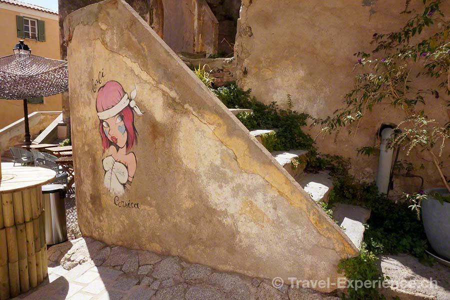 Korsika, Calvi, Streetart
