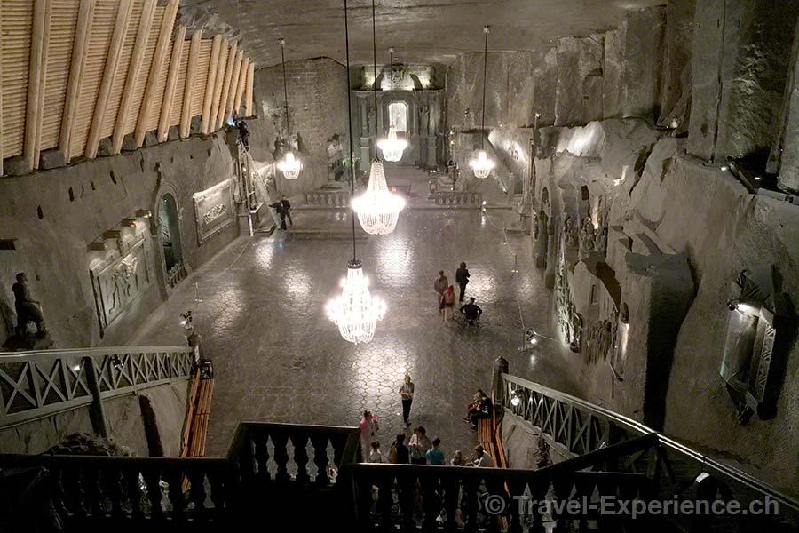 Polen, Salzmine Wieliczka, Kapelle der Heiligen Kinga, gruenes Salz