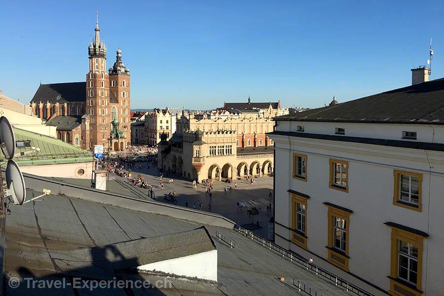 Polen, Krakau, Dachterrasse, Hotel Stary