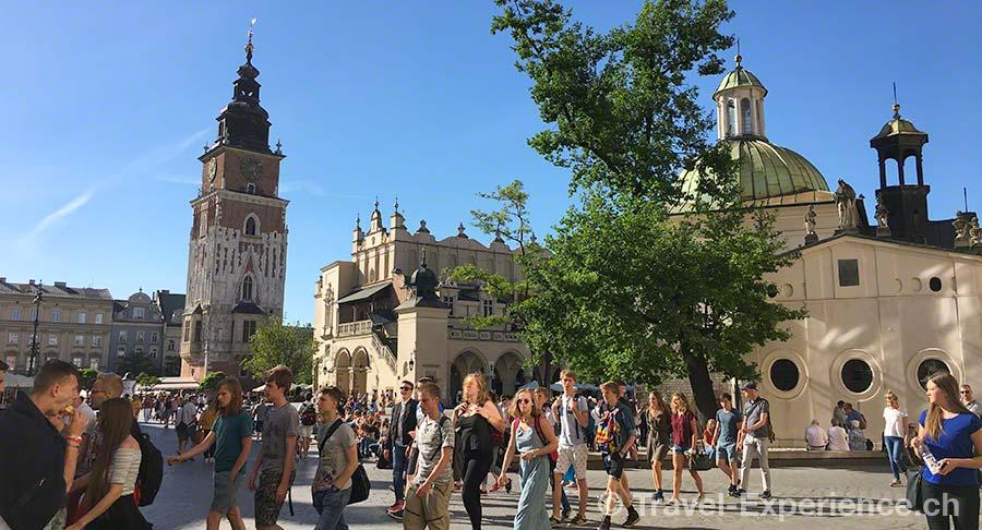 Polen, Krakau, Hauptmarkt, Rynek Glowny