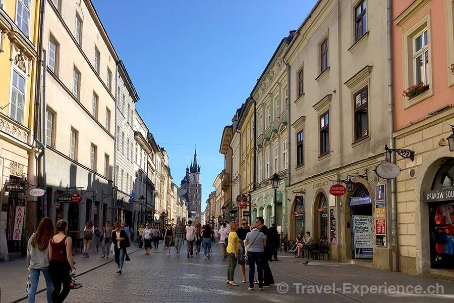 Polen, Krakau, Florianska strasse, Einkaufsmeile