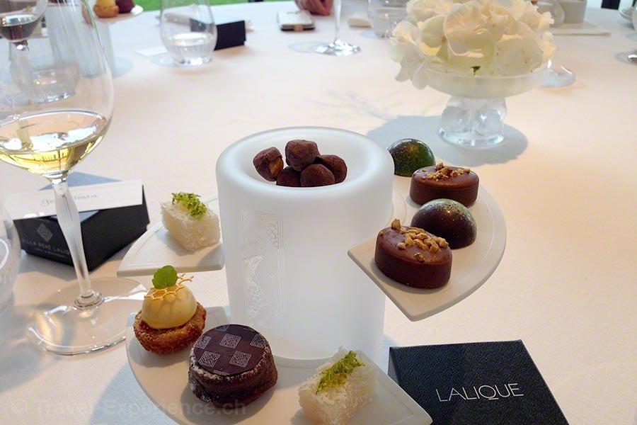 Villa Lalique, Restaurant, Jean-Georges Klein, Friandises