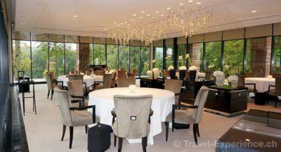 Villa Lalique, Restaurant, Mario BottaVilla Lalique, Restaurant, Chef Jean-Georges KleinVilla Lalique, Restaurant, Bar, Küche