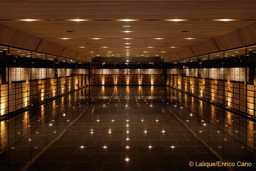 Villa Lalique, Restaurant, Weinkeller