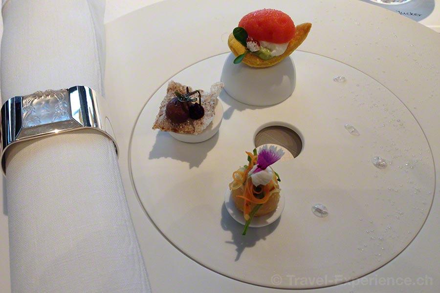 Villa Lalique, Restaurant, Jean-Georges Klein, Geschmacksöffner