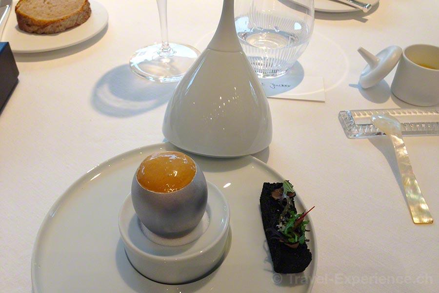 Villa Lalique, Restaurant, Jean-Georges Klein, Ei, Kaviar