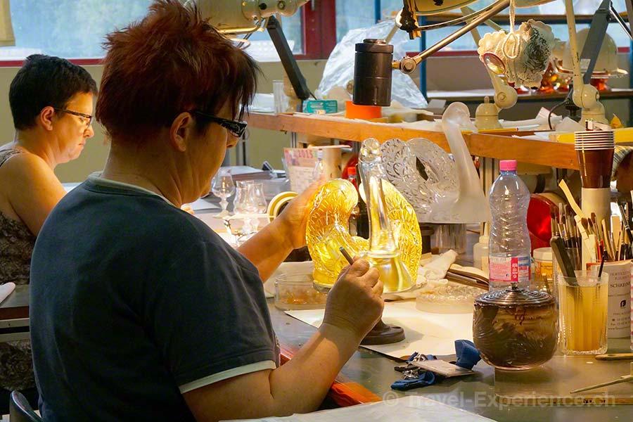 Glasmanufaktur Lalique, Elsass, Frankreich, Schwan