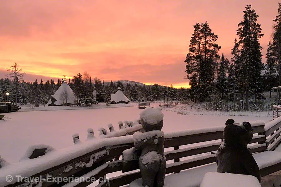 Finnland, Lappland, Ruka, Kuusamo, Salonki, Sonnenaufgang