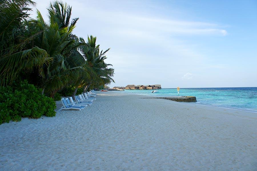 Malediven, Suedariatoll, Lily Beach, Morgenstimmung