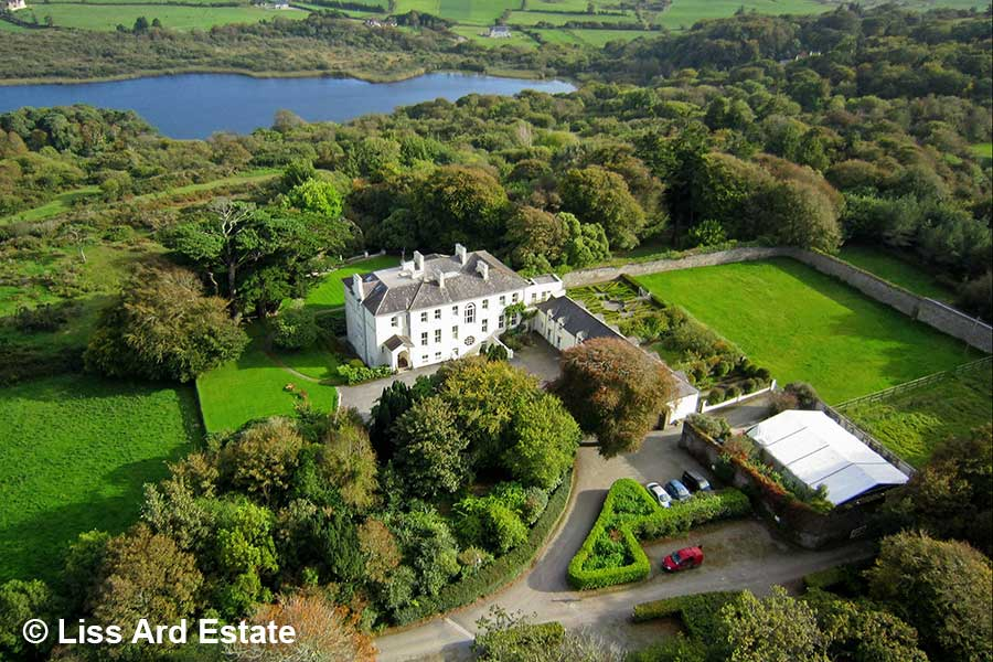 Liss Ard Estate, Irland, aerial