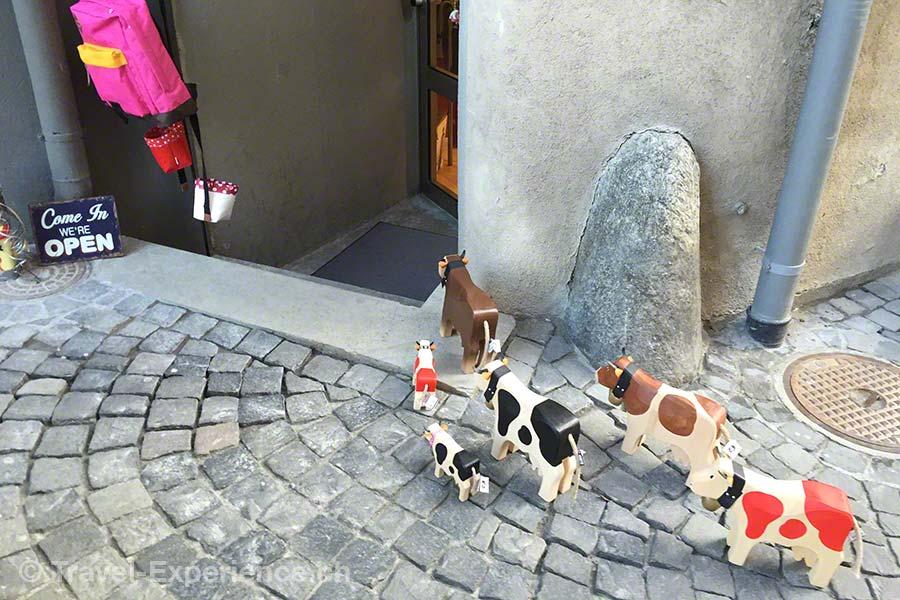 Brig, Holzkühe, Boutique