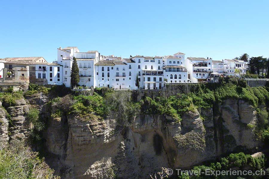 Spanien, Andalusien, Ronda, Felswand
