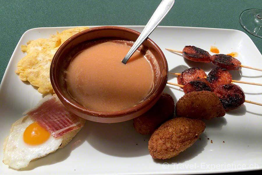 Spanien, Andalusien, Ronda, Restaurant El Patio, Tapas,