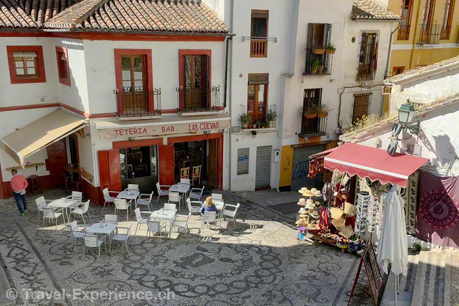 Spanien, Andalusien, Granada, Plaza San Gregorio