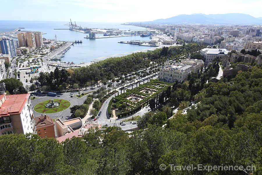 Spanien, Andalusien, Malaga, Castillo de Gibralfaro
