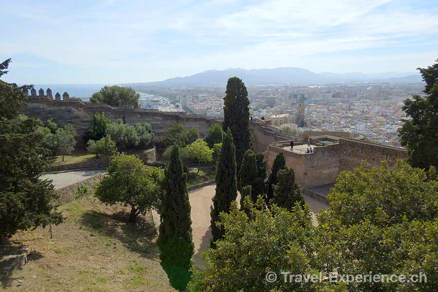Spanien, Andalusien, Malaga, Amphitheater, Alcazaba