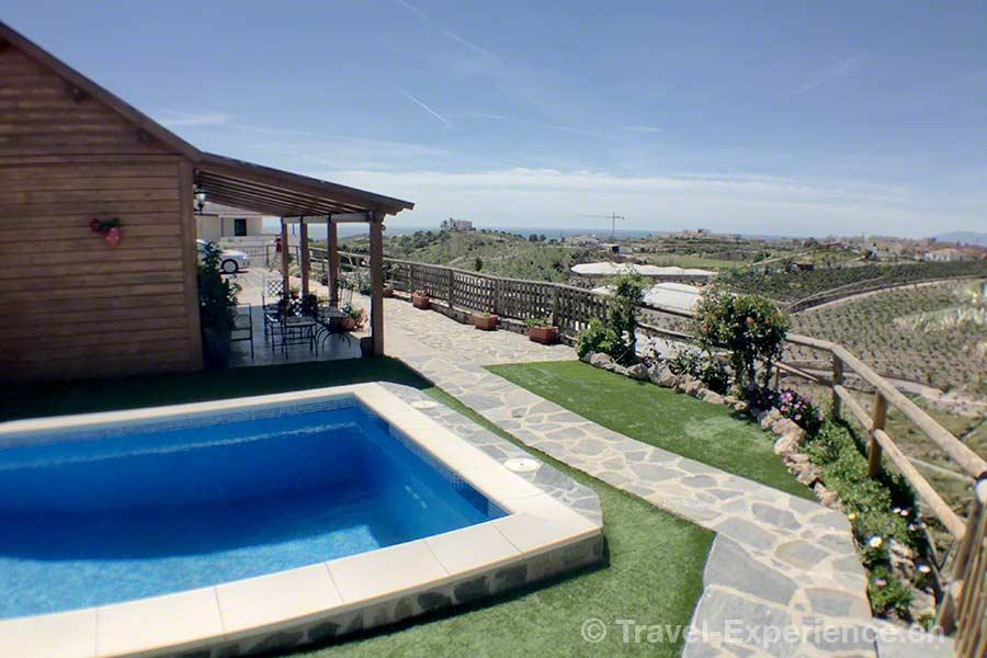 Spanien, Andalusien, Almayate Alto, Ferienhaus, Ref. MAL1790, Ruraliday, pool, Aussicht