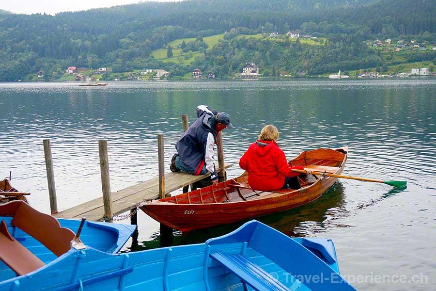 Millstaetter See, Buchtenwandern, Ruderboot, Strobl