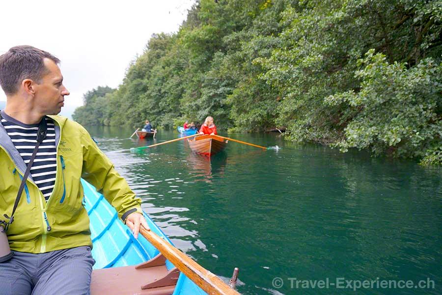 Millstaetter See, Buchtenwandern, Ruderboot