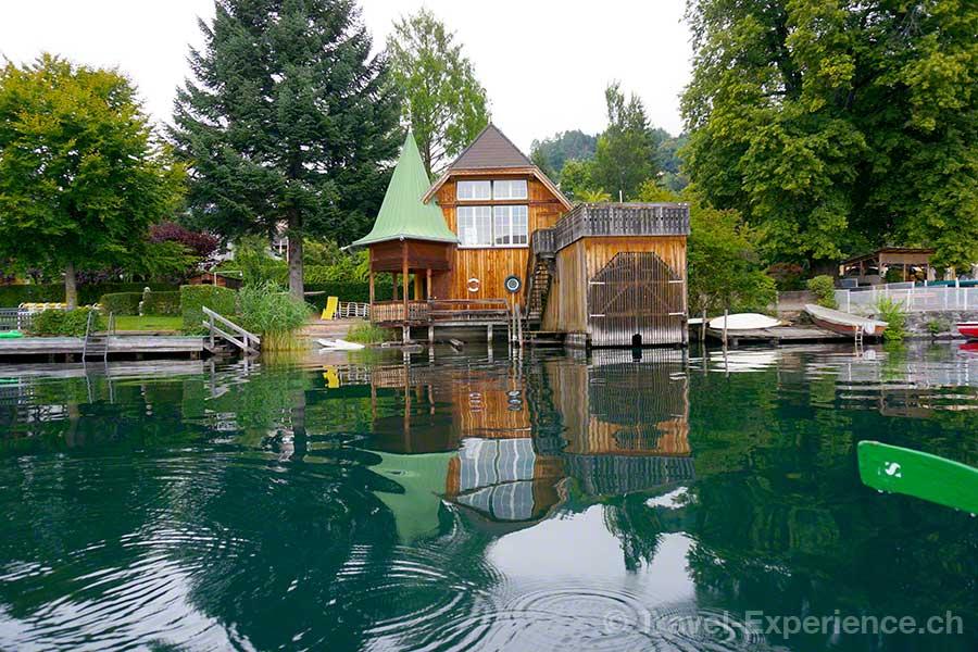 Millstaetter See, Buchtenwandern, Millstatt, Bootshaus