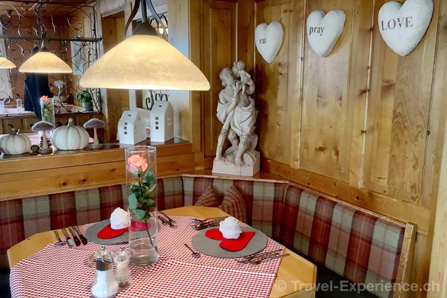oesterreich, vorarlberg, montafon, Panoramarestaurant Kristberg, Einrichtung, herzlich