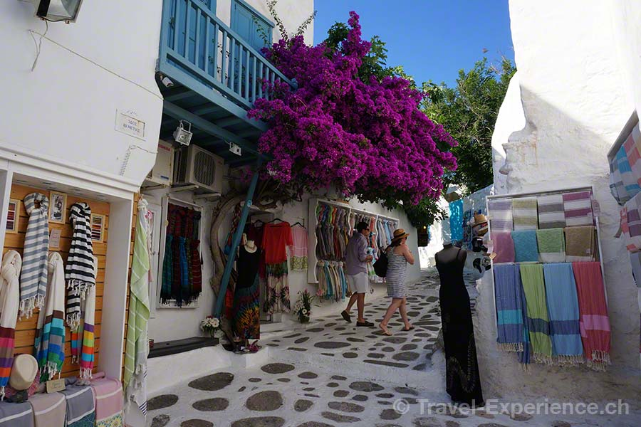 Mykonos Stadt, Shopping, Bougainvilea