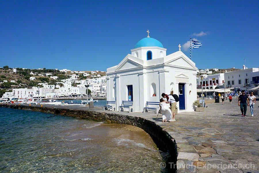 Mykonos, Hafen, Sankt Nikolaus Kirche