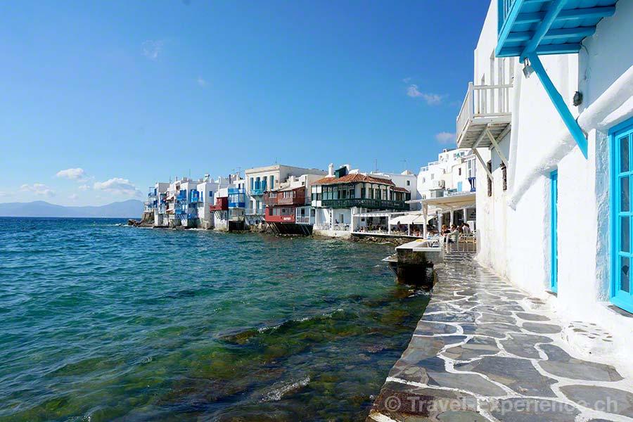 Mykonos, Little Venice, klein Venedig